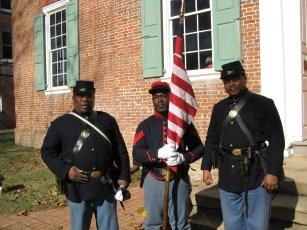 Honor Guard, North Carolina U.S. Colored Troops Re-enactors