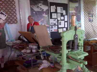 Welsh printing press at the Smithsonian Folklife Festival.