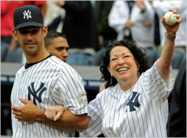 Sotomayor throws first pitch at Yankee Stadium