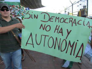 """Without democracy, there is no autonomy"""