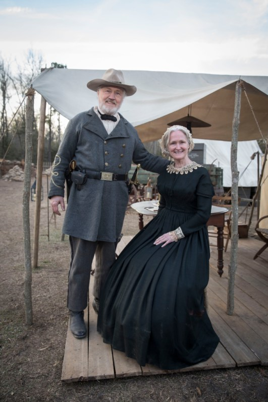 Confederate officer (Gregg Andrews) and hospital nurse (Victoria Bynum). Photo courtesy of STX Entertainment