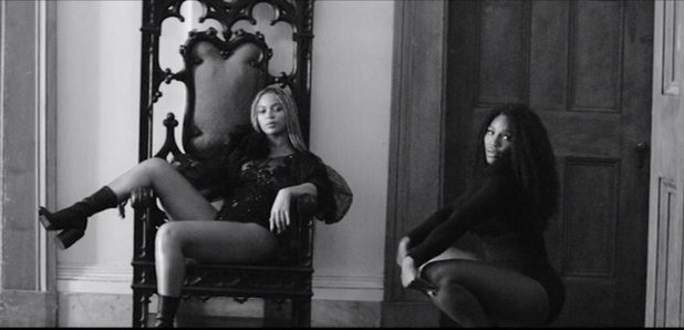 Beyonce and Serena Williams still from Lemonade