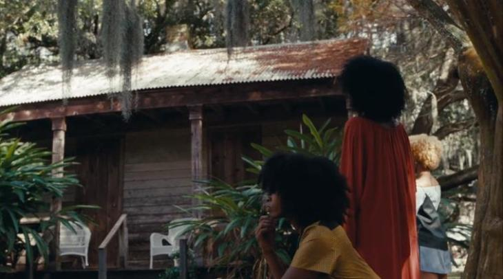 three women in front of slave cabin, still from Beyonce's Lemonade