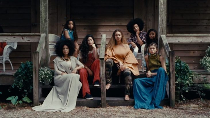 women and girls on porch, still from Beyonce's Lemonade