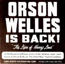 "Orson Welles is back! ""The Lives of Harry Lime"" (Image otrcat.com)."