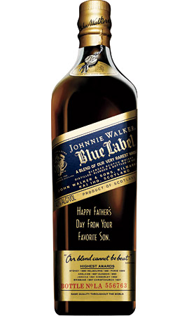 Custom Engraved Johnnie Walker Blue Label