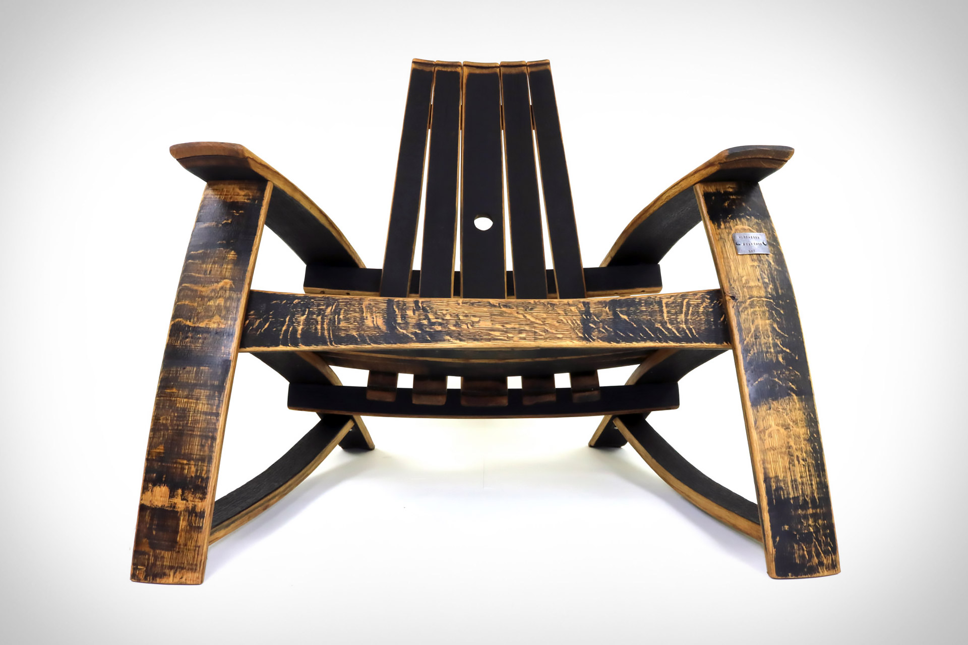 barrel stave adirondack chair plans styles of chairs bourbon uncrate