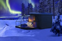Glass Igloo Northern Lights