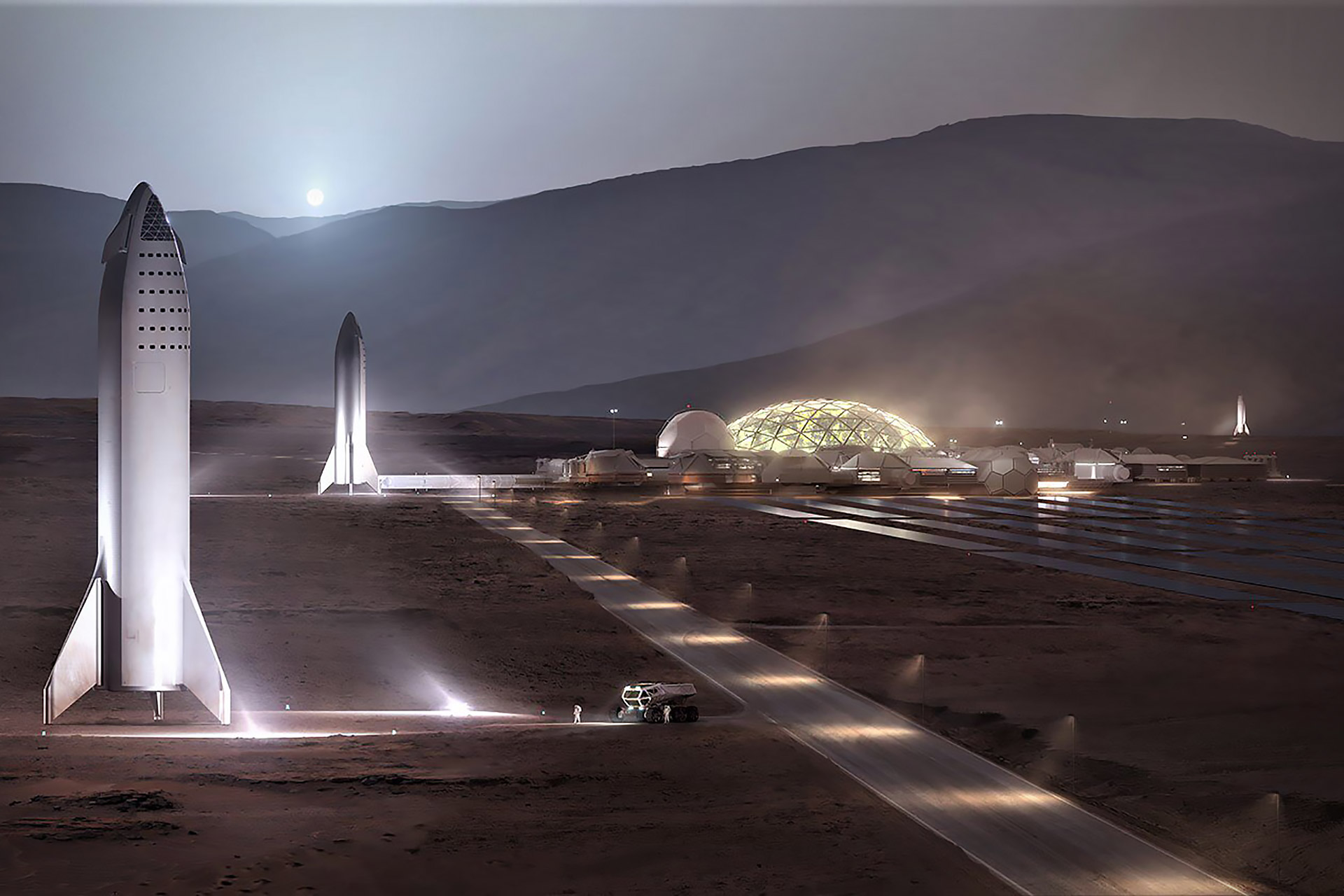 Spacex Martian Base Uncrate