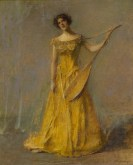 Thomas Wilmer Dewing, The Singer, 1924, oil on canvas, Dallas Museum of Art, bequest of Joel T. Howard