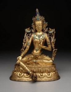 Green Tara, 18th century, Tibet, gilt copper alloy and turquoise, Dallas Museum of Art, the Cecil and Ida Green Acquisition Fund 2005.28