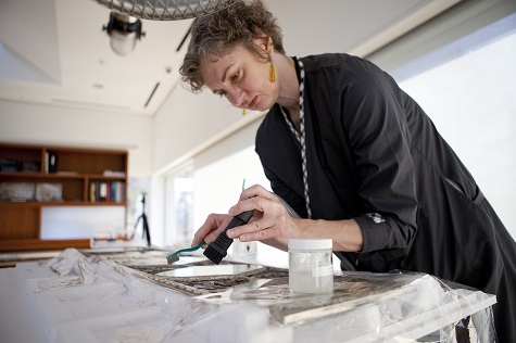 Fran Baas_Associate Conservator of Objects at the DMA_working on Wiener Werkstätte vitrine_Courtesy of Dallas Museum of Art (2)