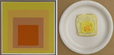 "Josef Albers, ""Study for Homage to the Square: Joy,"" 1964, oil on masonite, Dallas Museum of Art, gift of Mr. and Mrs. Roscoe DeWitt, 1966.12, © The Josef and Anni Albers Foundation / Artists Rights Society (ARS), New York"