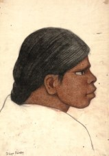 "Diego Rivera, ""Profile of a Woman,"" c. 1930, charcoal and conte crayon on washi paper, Dallas Museum of Art, Dallas Art Association Purchase, 1951.91, © Banco de Mexico Diego Rivera & Frida Kahlo Museums Trust, Mexico, D.F. / Artists Rights Society, New York"