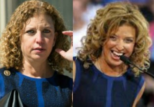 Debbie Wasserman Schultz's hair is a textbook case of Brazilian keratin's value for curly hair worn curly. Uncurly.com