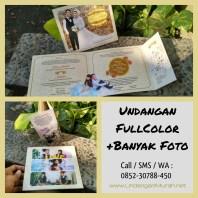 Undangan Fullcolor Murah Memuat Banyak Foto