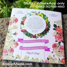 Cover Belakang Undangan Bunga Vintage by Embun Media