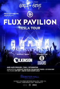 Get Tickets to see Girls & Boys ft Flux Pavilion at Webster Hall 10/9/15