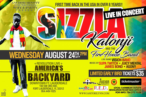 Sizzla Kalonji in Florida for the First Time in 8 Years