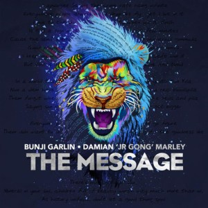 Checkout New Track The Message - Bunji Garlin & Damian Marley Artwork