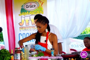 Miss Jamaica World 2015 Sanneta Myrie at The Grace Jamaican Jerk Festival New York - Undefinable Vision