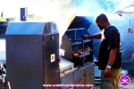 Food Vendor cooking up delicious Jerk foood at the Grace jamaican Jerk Festival