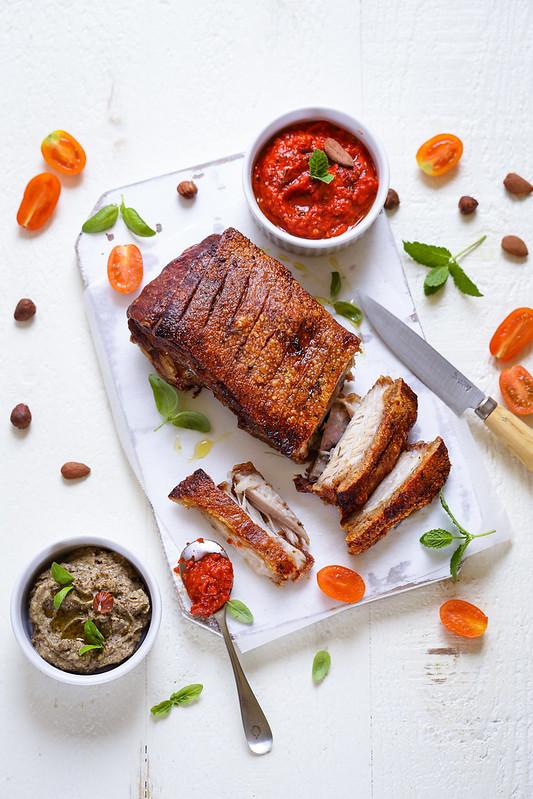 Recette Poitrine De Porc Croustillante : recette, poitrine, croustillante, Poitrine, Rôtie, Croustillante, Recette, Astuces, Déjeuner, Soleil