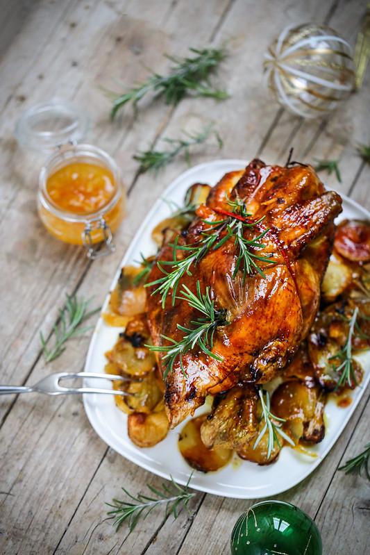 Cuisson D Un Chapon : cuisson, chapon, Poulet, Chapon, Rôti, Marmelade, D'orange, Recette, Facile, Fêtes, Déjeuner, Soleil