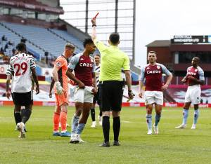 Aston Villa collapse against Manchester United as Watkins sees red