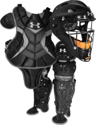 Junior catcher   gear kit ages black also under armour us rh underarmour