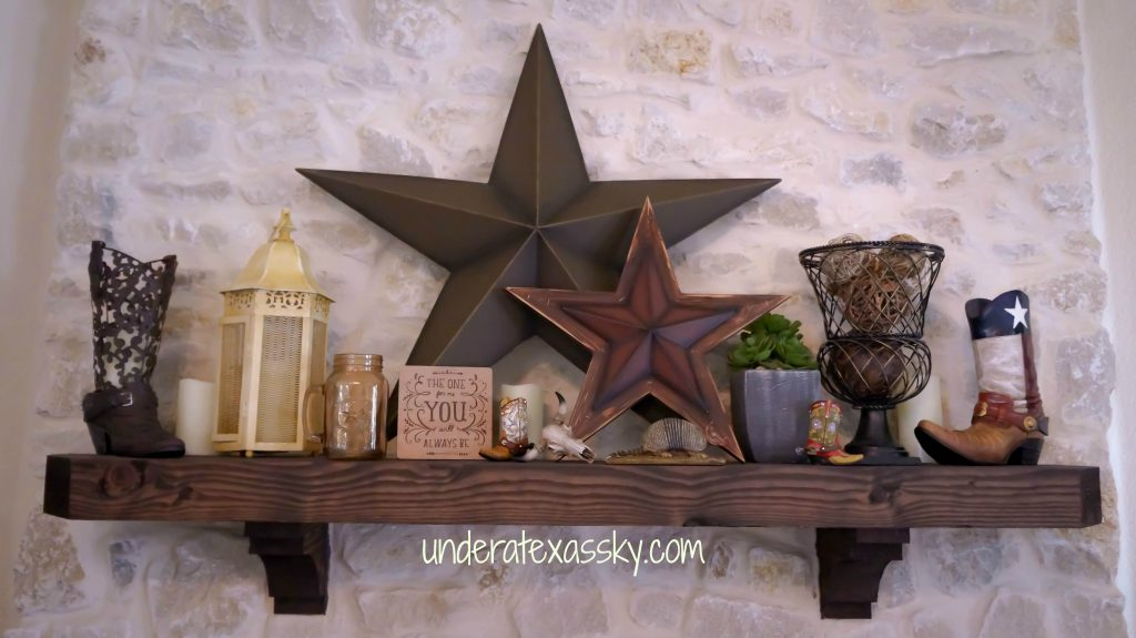 Texas Style Mantel Decor Under A Texas Sky