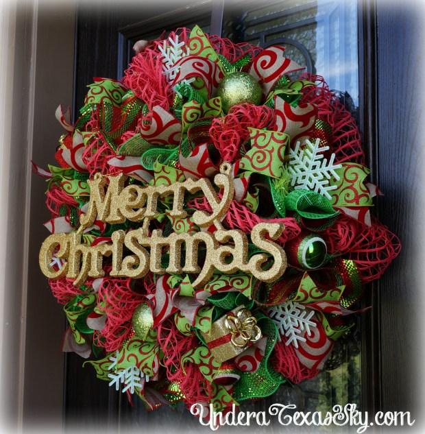 christmas wreath mesh