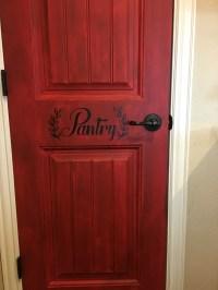 Distressed Pantry Door DIY - Under a Texas Sky