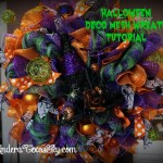 Deco Mesh Halloween Wreath With Witch S Hat Tutorial Under A Texas Sky
