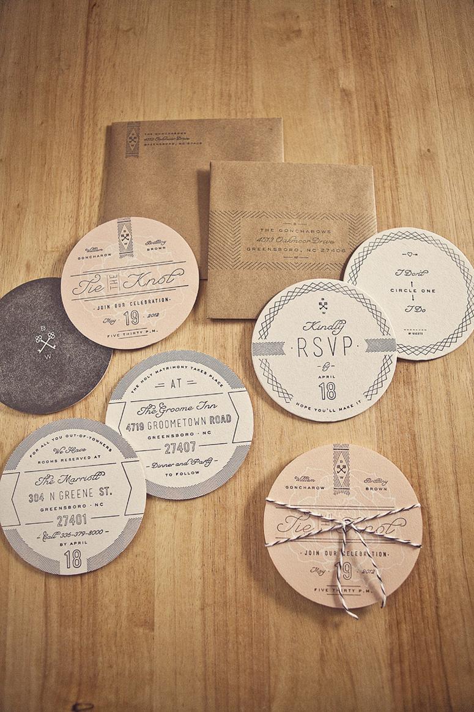 FPO Goncharows Coaster Wedding Invites