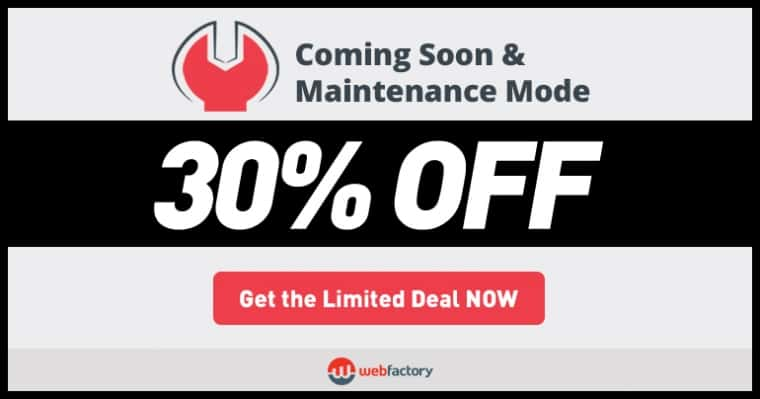 Coming Soon & Maintenance Mode Black Friday & Cyber Monday