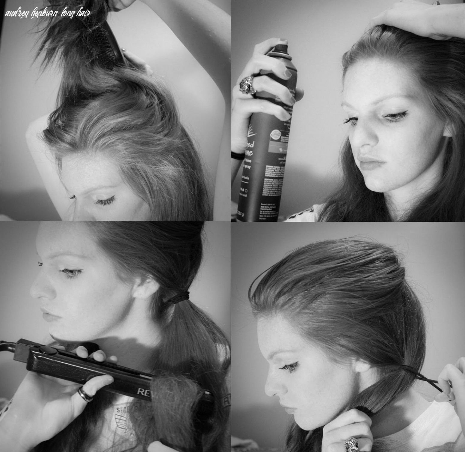 Audrey Hepburn pigtails how-to...I loved this hairstyle in my ...