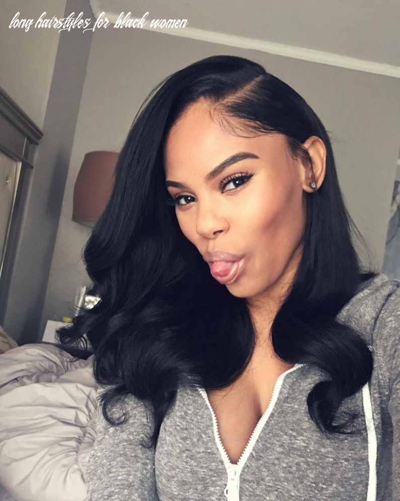 Black Hairstyles Long Long - photos of side part long hairstyles ...