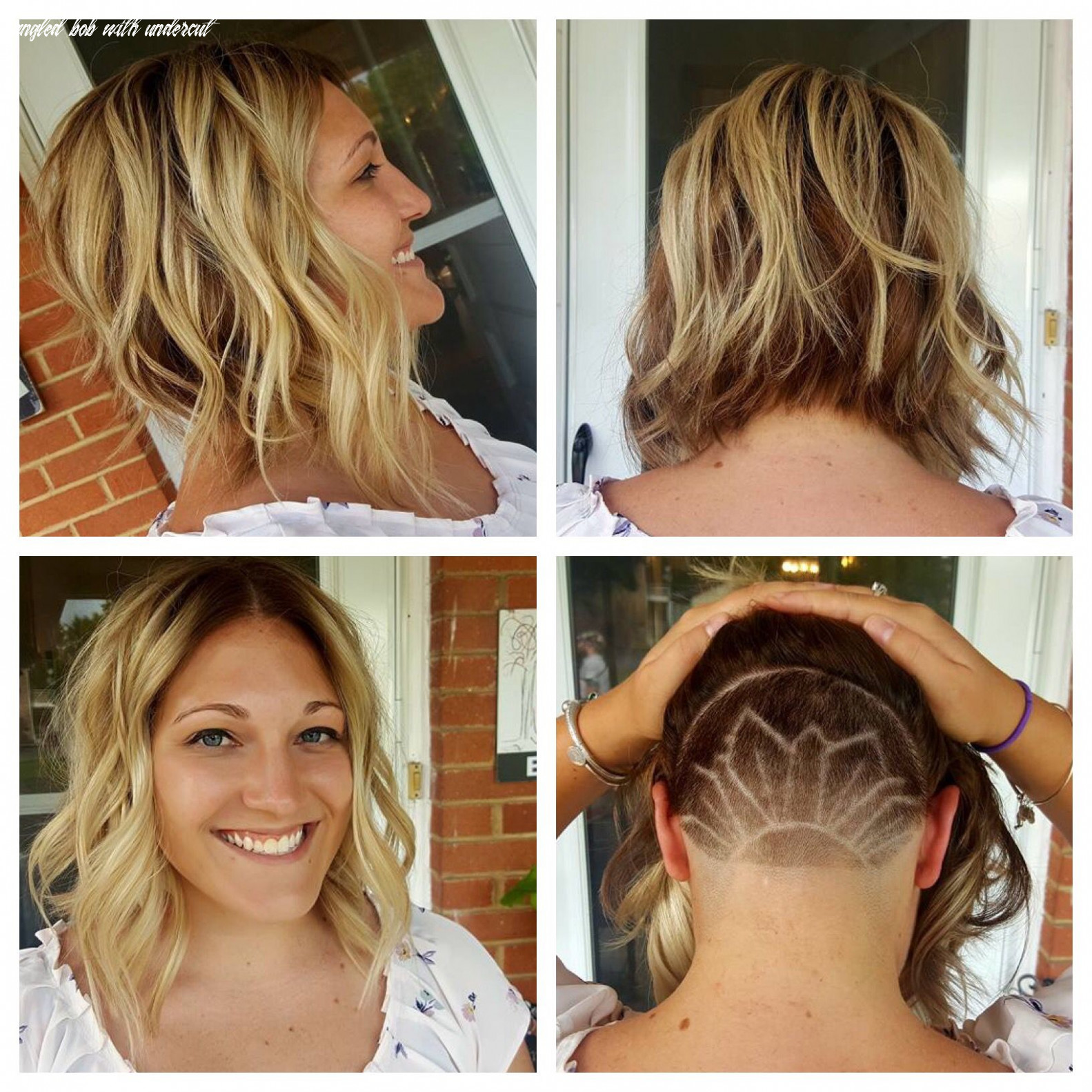 Bob with undercut and a design we did for fun! I love it ...