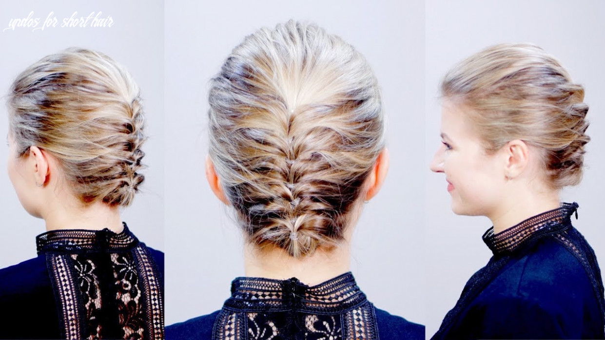 HAIRSTYLE OF THE DAY: Easy Elegant Textured Updo for Short Hair | Milabu