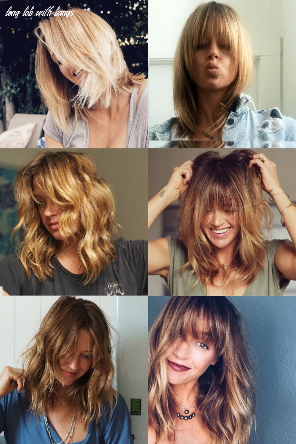 If anyone is looking for some   Lob hair with bangs, Blonde hair ...
