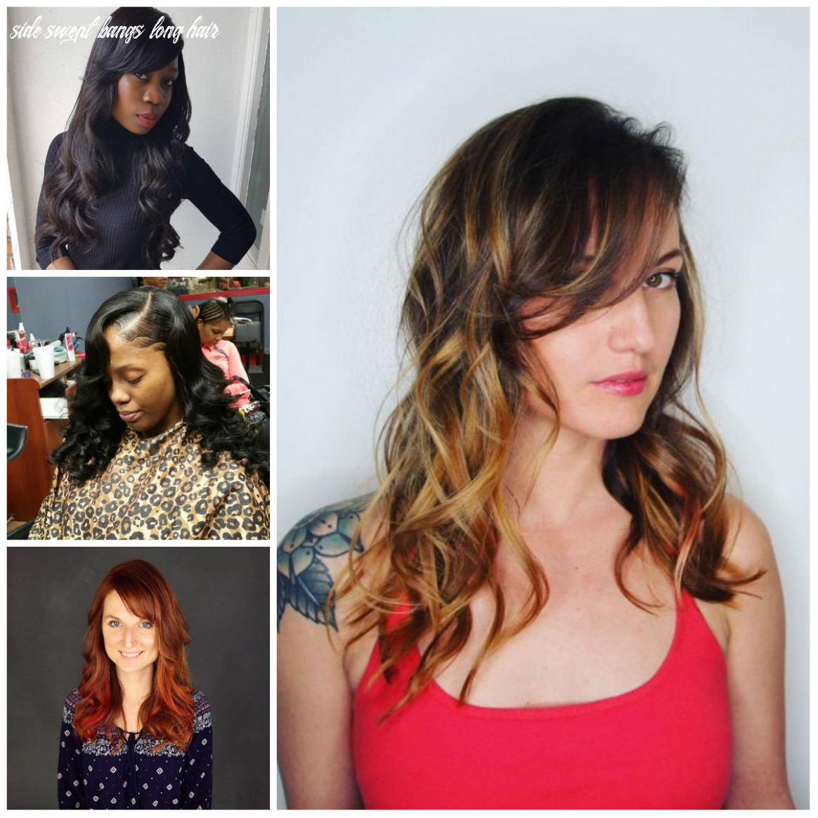 Side Swept Bangs Hairstyles for Long Hair for 10   10 Haircuts ...