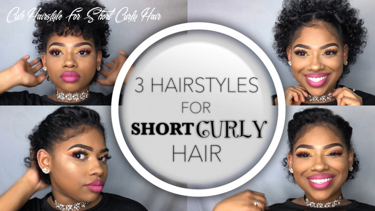 8 Quick and Easy Hairstyles for SHORT Curly Hair | Summer Glam Part 8 |  Ashley Liani