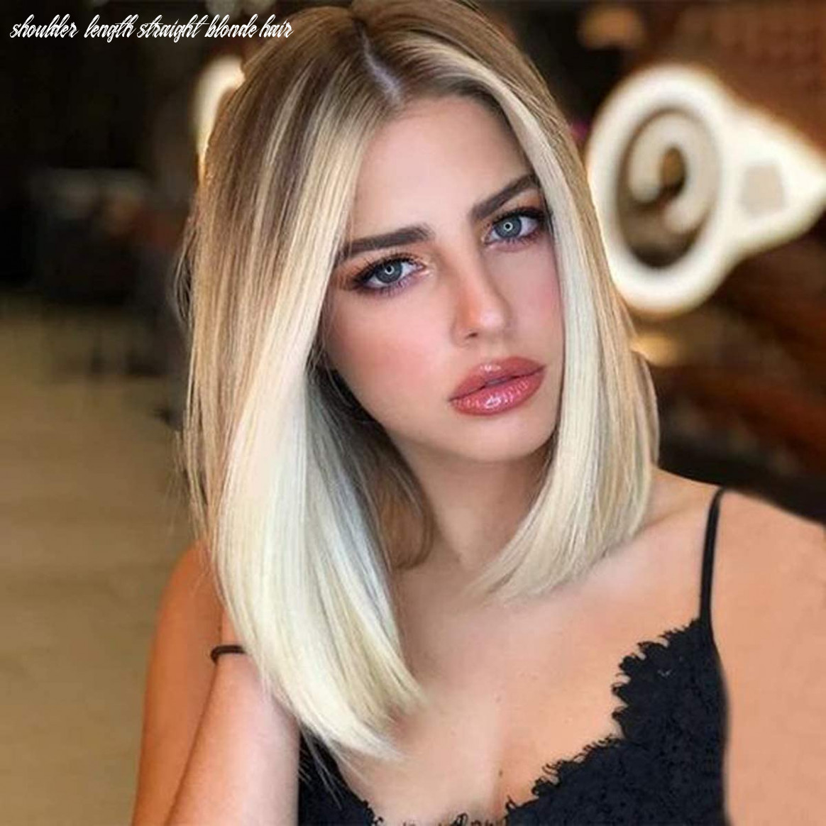 BECUS Ombre Brown to Blonde Short Bob Wig Shoulder Length Synthetic  Straight Hair for Women with Wig Cap