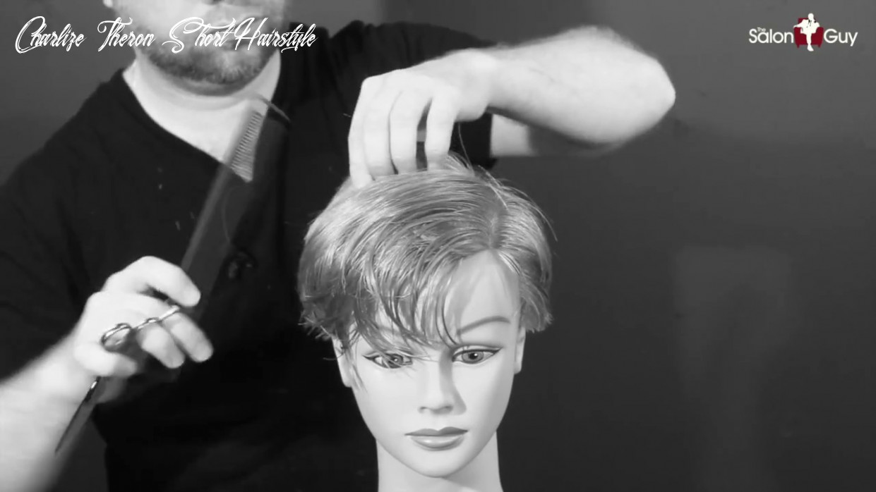 Charlize Theron Haircut Tutorial - TheSalonGuy