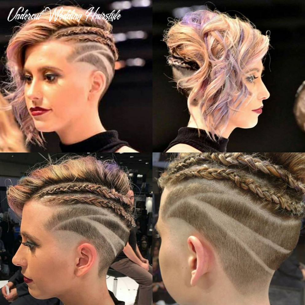 Cute undercut with braids and curly hair | Beautiful hair color ...