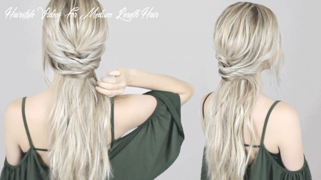 EASY HALF-UP HALF-DOWN HAIRSTYLE
