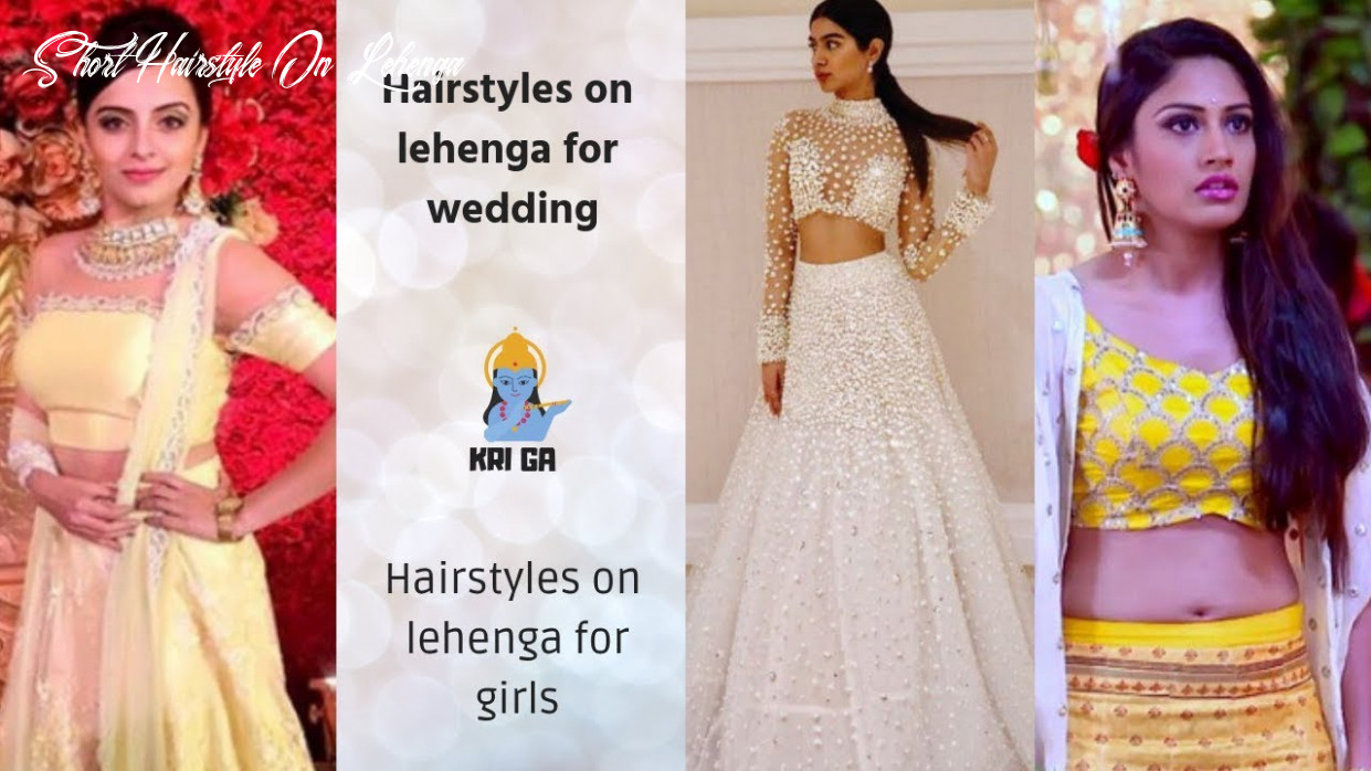 Fancy Short Hairstyle With Lehenga 9 Short Hairstyles