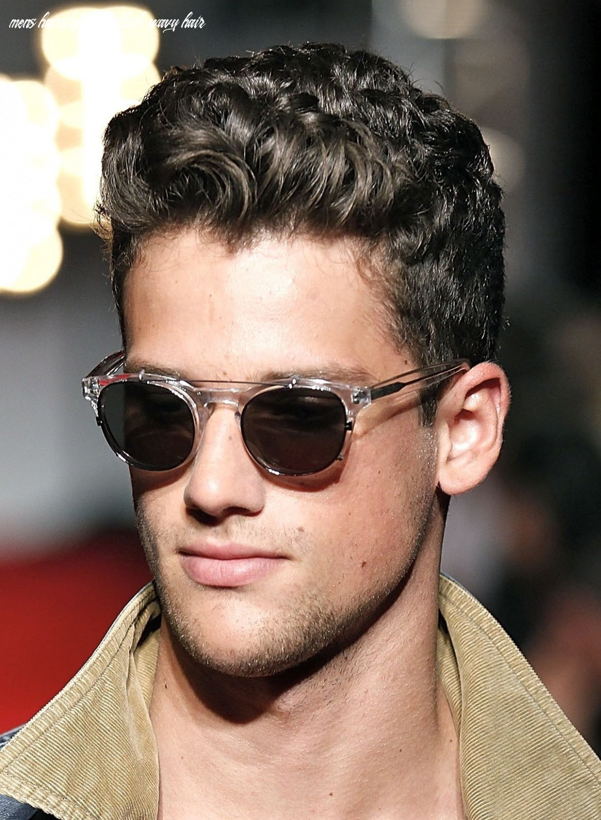 Hairstyles For Men With Thick Curly Hair | Wavy hair men, Men's ...