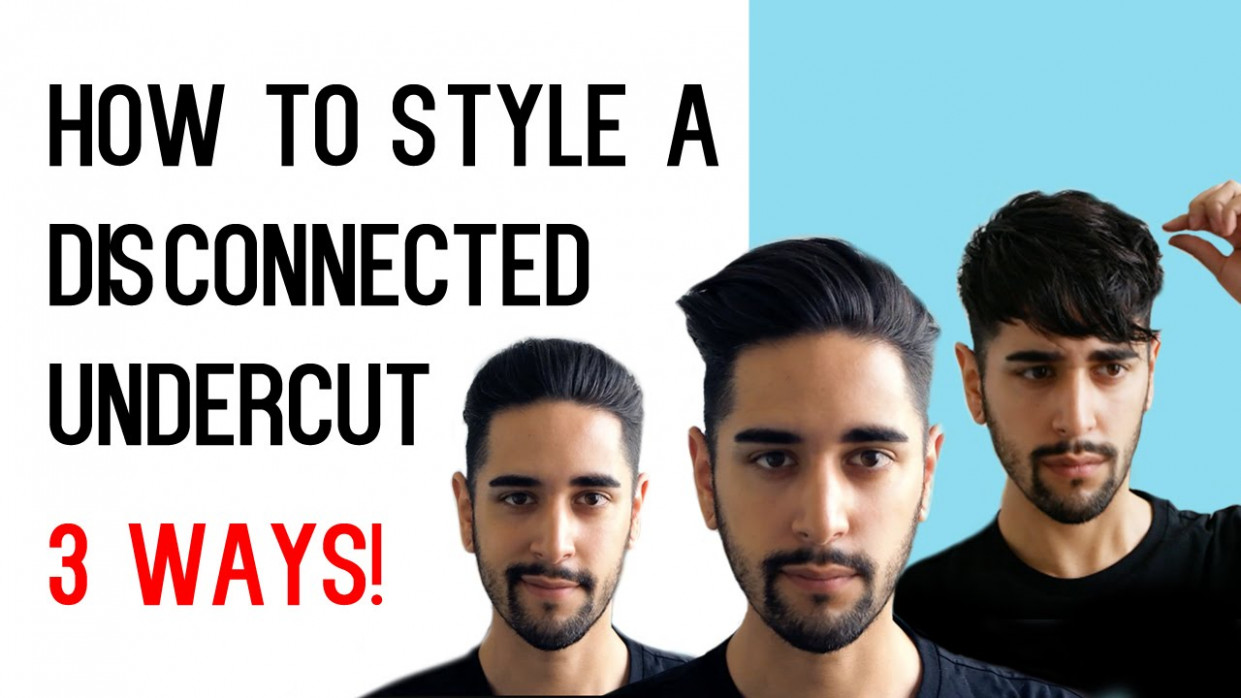 How To Style A Disconnected Undercut 10 WAYS! (Men's Hair Tutorial) ✖ James  Welsh